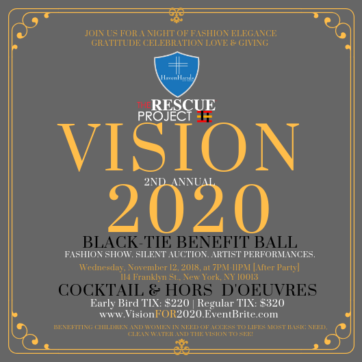 Vision 2020 Benefit Ball Returns for a Second Annual Event to Continue Raising Awareness on Eye Health and Clean Water Sanitation